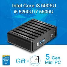 Komputer stacjonarny procesor mini pc z systemem windows 7/8 core i5 i7 5200u 5500i i3 5005u bez wentylatora pc z hdmi gigabitowa karta 8g ram 128g ssd + wifi