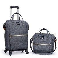 Для женщин бизнес дорожные сумки на колесиках путешествия рюкзаки с чемодан на колесах тележка рюкзак Mochila Оксфорд прокатки багажа чемодан