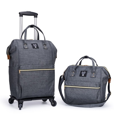 Sacs de chariot de voyage d'affaires de femmes sacs à dos de voyage avec des roues sac à dos de chariot à bagages Mochila Oxford valise à bagages roulante