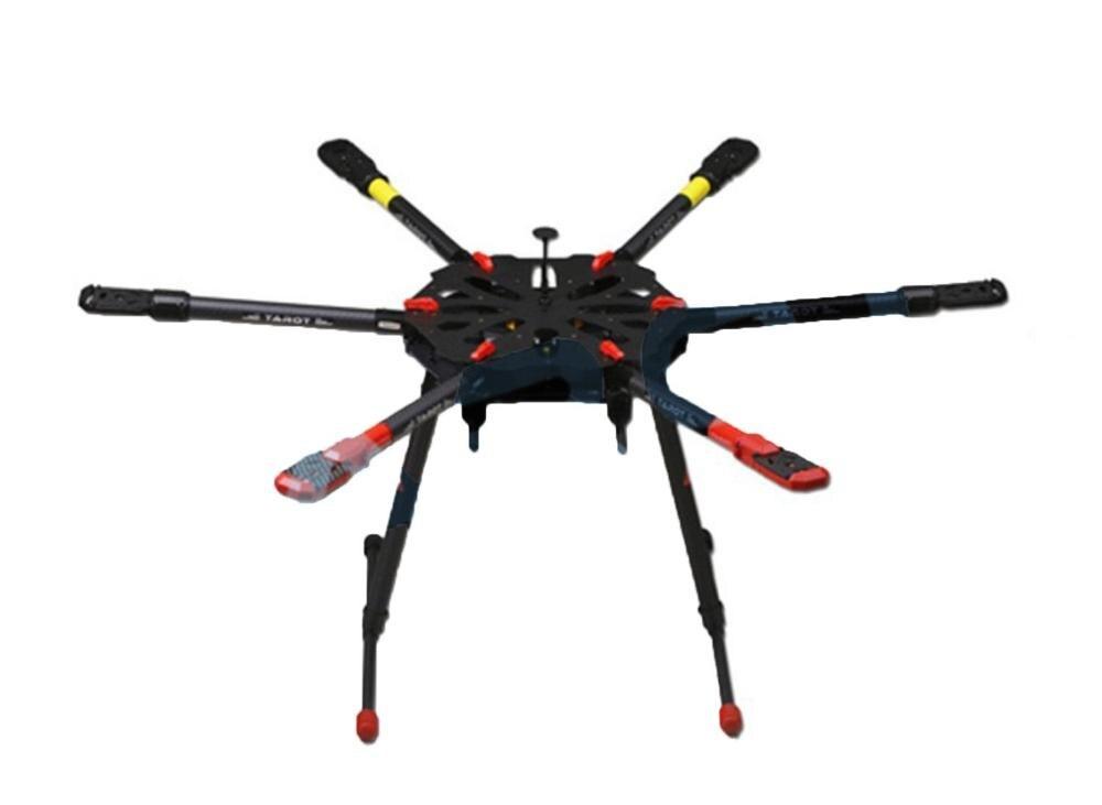 F11283 Tarot X6 TL6X001 6 axle Umbrella Carbon Foldable Hexacopter Frame Kit Electronic Landing Skid Gear