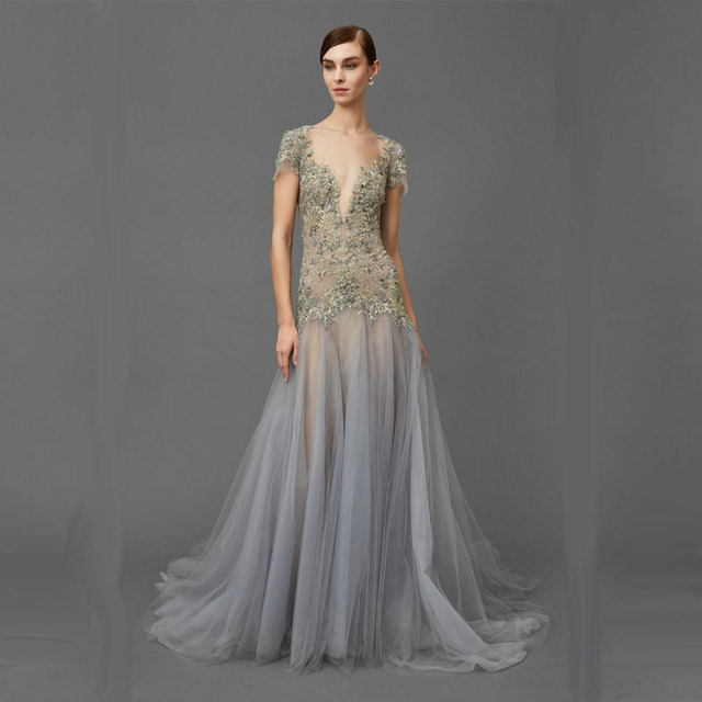 2016 Vestido Longo Party Dresses Elegant Ever Pretty Kaftan Great Gatsby Beading Evening Dress Black Red