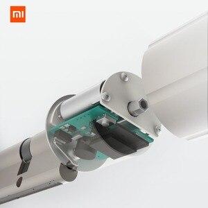 Image 2 - Умный Замок xiaomi mijia для домашней безопасности, практичный Противоугонный дверной замок с ключом, работает с приложением mi Home
