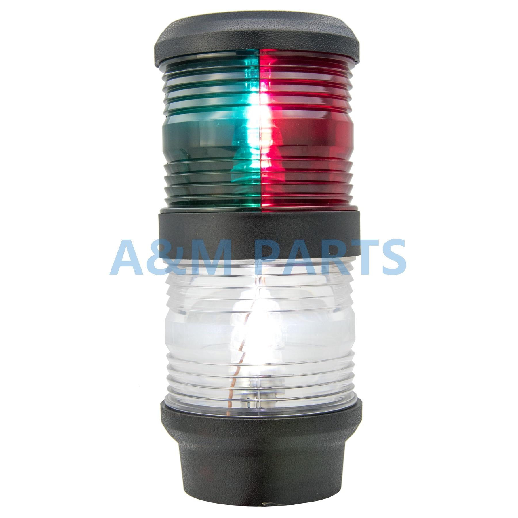 LED Bi Color All Round Anchor Light Boat Marine Navigation Masthead Light for Sailboat