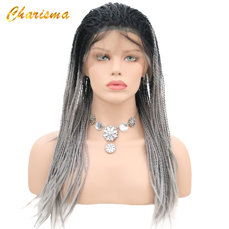 Charisma Women Synthetic Hair Lace Front Wig Ombre 12 Inch Bob Wig Short Silky Straight Hair Wig With Baby Hair Natural Hairline Hair Extensions & Wigs