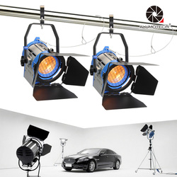 ALUMOTECH Pro As ARRI 2PCS 650W Dimmer Built-in Fresnel Tungsten Spot Light For Camera Video Studio Photography Lamp