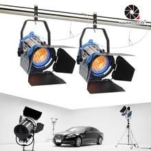 ALUMOTECH Pro Como ARRI 2 PCS 650 W Fresnel Tungsten Spot light luz Dimmer Embutido Da Câmera Vedio