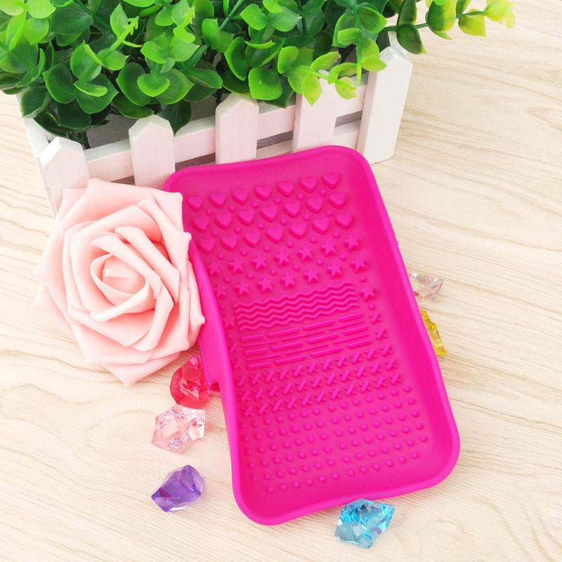 Silicone Brush Cleaning Tools Soap Dish Shape Cosmetics Cleaner Washing Brushes Cleansers (7)