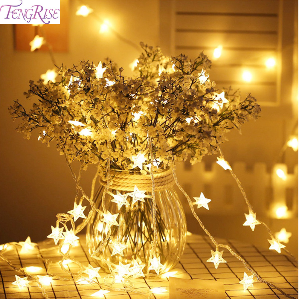 Buy fengrise 20pcs 3m stars led string for Stars decorations for home