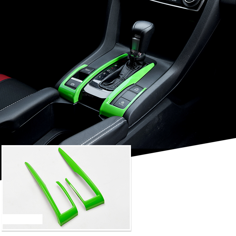 2019 Civic Sedan Restyled Sporty Design: Lsrtw2017 Green Line Abs Car Interior Decoration Trims