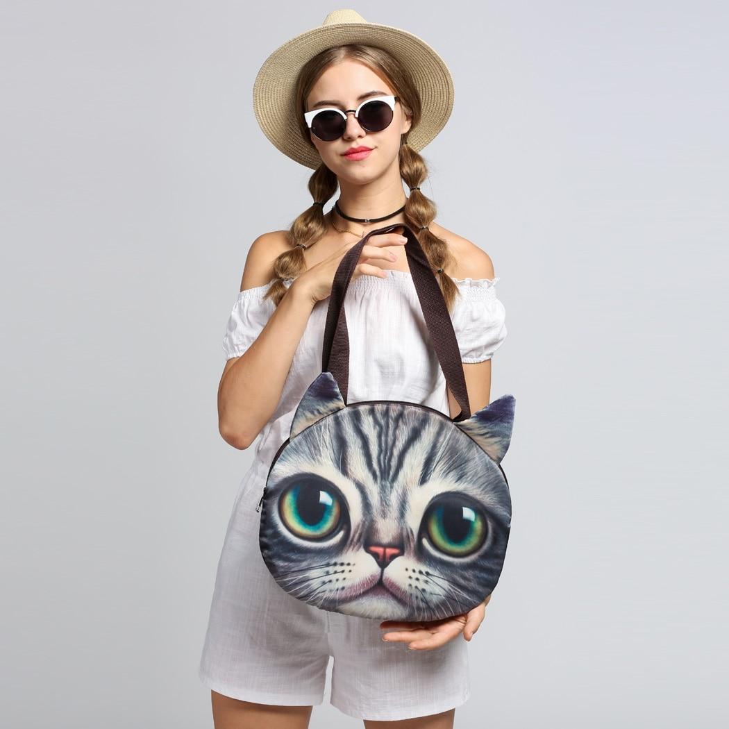 2017 Высокое качество Марка Мультфильм Товары для кошек Для женщин Курьерские сумки на молнии Для женщин плеча Курьерские сумки Bolsa feminina
