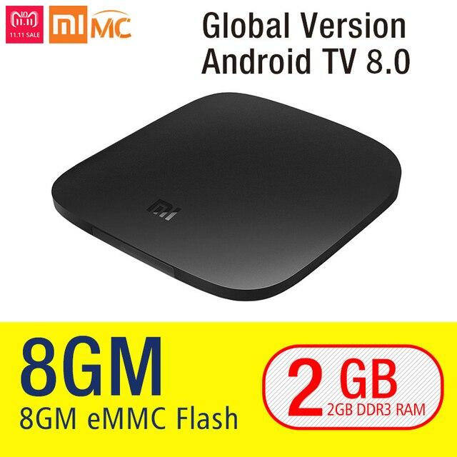 Original Xiaomi mi CAJA de la TV 3 Smart 4 K Ultra HD 2G 8G Android 6.0 Película WIFI Cast Google Netflix Red Bull Media Player Set-top caja