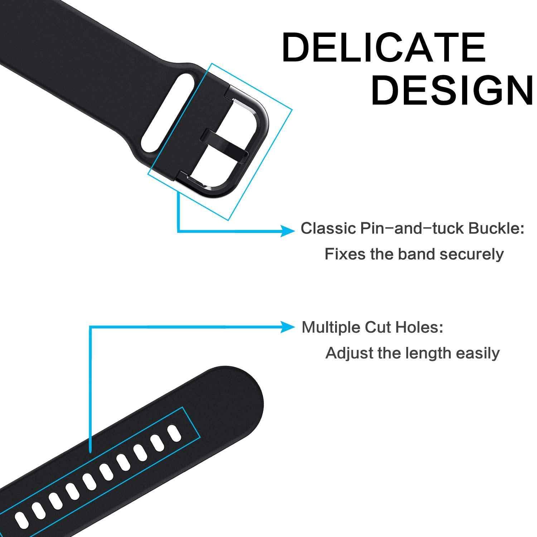 Warna-warni Lembut Silikon Tali Jam untuk Samsung Galaxy Watch 42 Mm Pengganti Olahraga Gelang 20 Mm Wrist Band Strap unisex