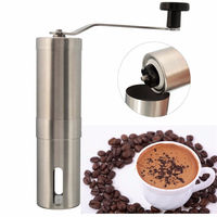 Silver Stainless Steel Hand Manual Handmade Coffee Bean Grinder Mill Kitchen Grinding Tool 30g 4 9x18