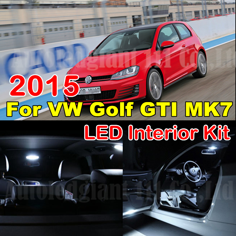 WLJH Cold White Canbus Map Reading Vanity Mirrors Trunk Light For Volkswagen Golf 7 MK7 GTI VII LED Interior Light kit 2015 8X декор lord vanity quinta mirabilia grigio 20x56