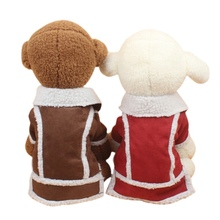 Winter Warm Pet plush jacket Dog Clothes Puppy Coat Jacket Fleece Doggie Locomotive Vest Apparel Costume  For W1
