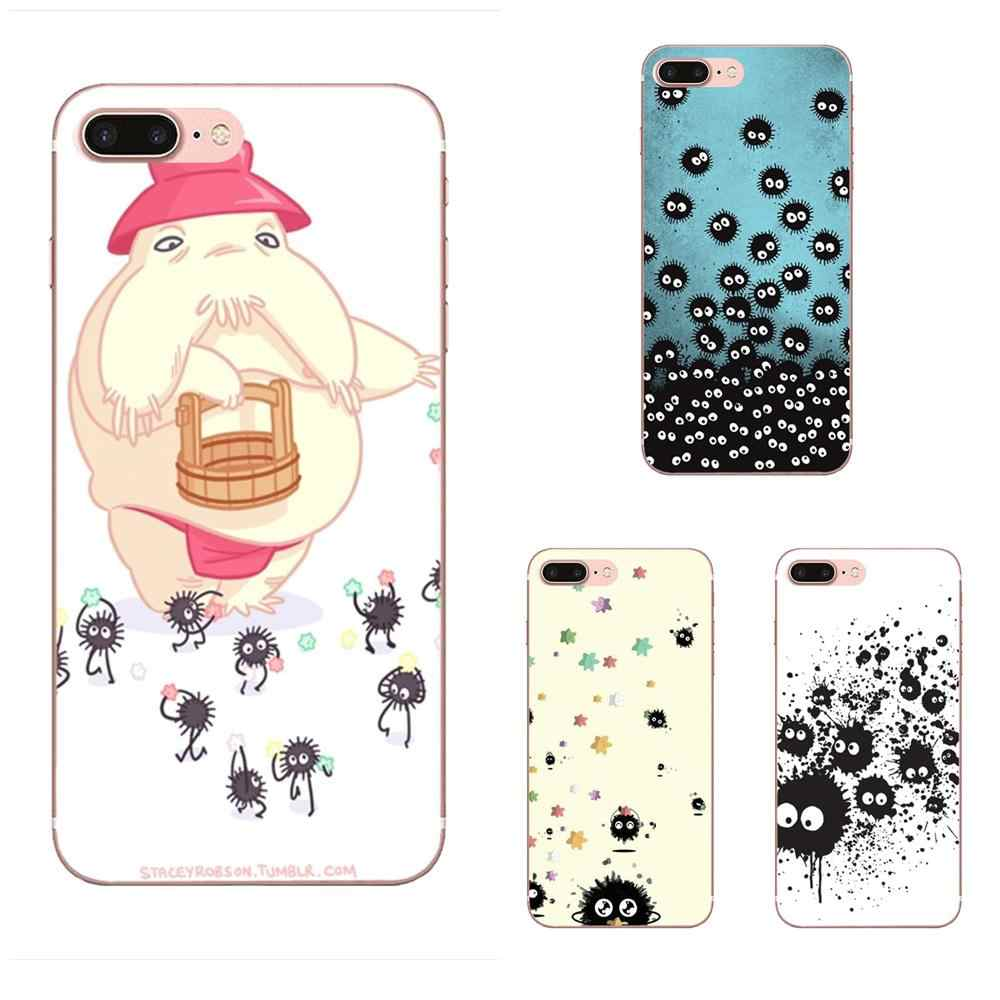 Fuligem Sprite Totoro Spirited Away Meu Neighboor Linda Bloco Caso de Telefone Para O iPhone Da Apple X XS Max XR 4 4S 7 8 5 5C 5S SE 6 6 S Plus