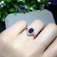 2017 кольца Qi xuan_темно синий камень простой и элегантный ring_розовое Золото Цвет Мода темно синий ring_производитель прямые продажи