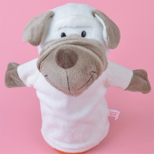 25cm Shar-pei Dog hand puppet plush toy, Stuffed Baby / Kids Doll Toy Gift Free Shipping