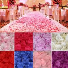 2000piece/lot 5*5cm Romantic silk Rose petals for Wedding Decoration Artificial Petals Flower