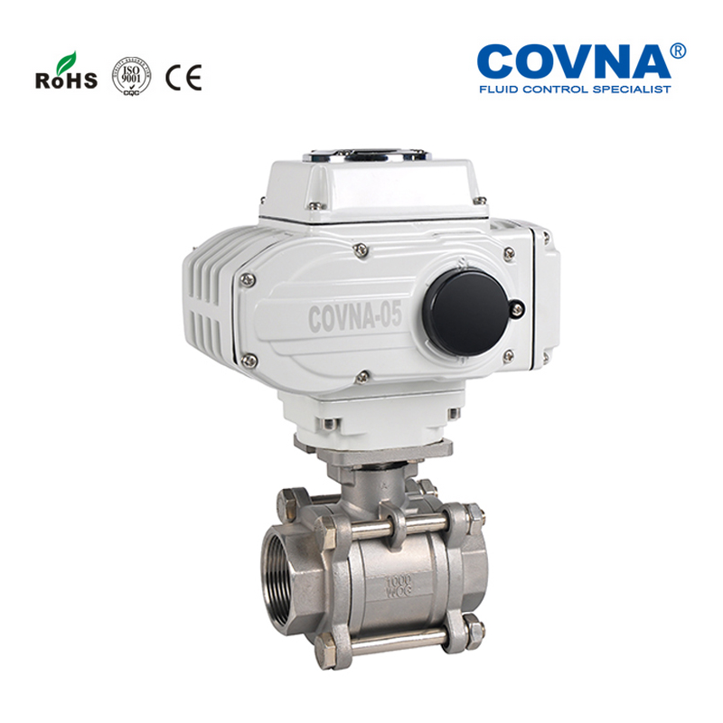 DN25 1 inch Electric Threaded 2 Ways Ball Valve DC12V ON OFF Type Stainless Steel 304