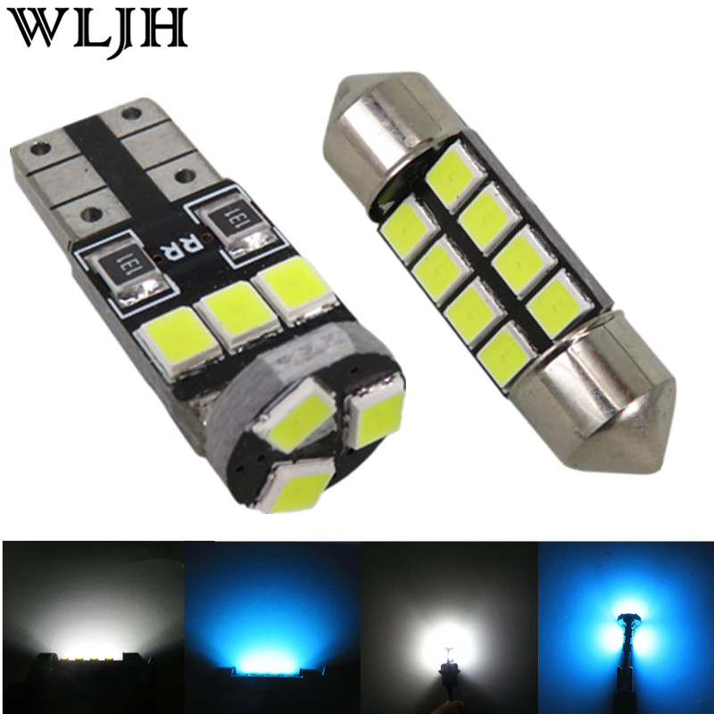 WLJH 11pcs Canbus 2835 SMD Led Dome Map Trunk License Plate Light Car Interior Light Kit for Subaru Legacy Forester Impreza super bright car styling 9pcs car led kit interior glove box light for 2014 2015 kia sorento trunk dome map license plate lights