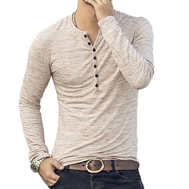 MJARTORIA Men Henley Shirt...
