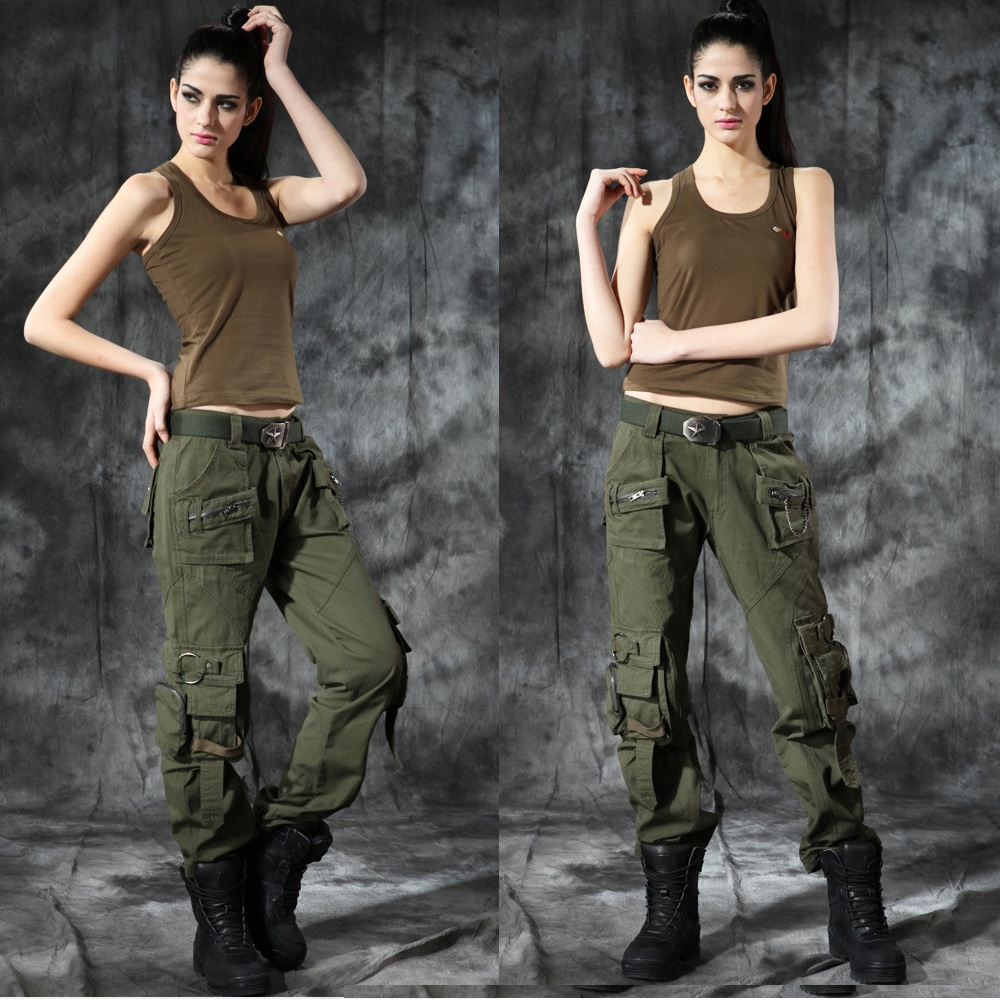 Men Women Couple Camouflage Hiking Pants Outdoor Military Tactical Pants Trousers Multi pocket Large Size Climbing