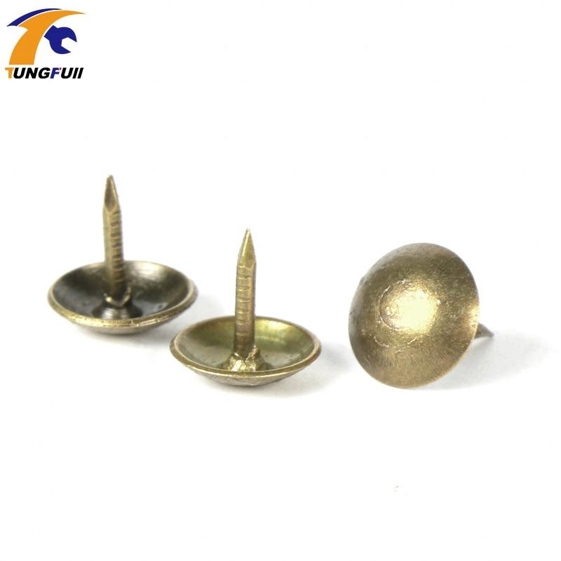 TUNGFULL 100pcs 9x9mm Antique Brass Bronze Upholstery Nail