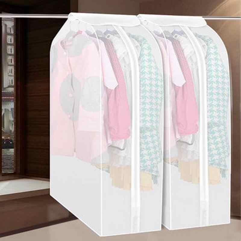 Borse contenitore trasparente Vestiti di Protezione del Vestito Cappotto di Polvere del Cappotto Della Copertura Della Protezione Vestiti del Sacchetto di Immagazzinaggio Casa di Famiglia Hanging Organizer 1