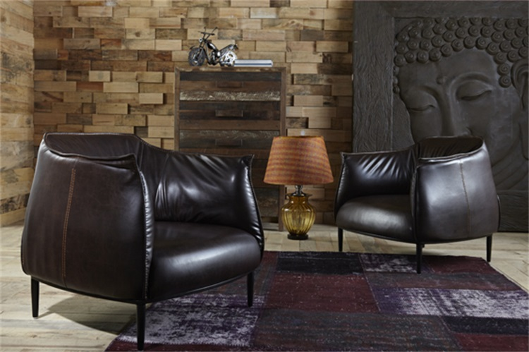 Chair Living-Room-Furniture Beanbag Sectional Sofa American-Style Retro Home Modern Limited