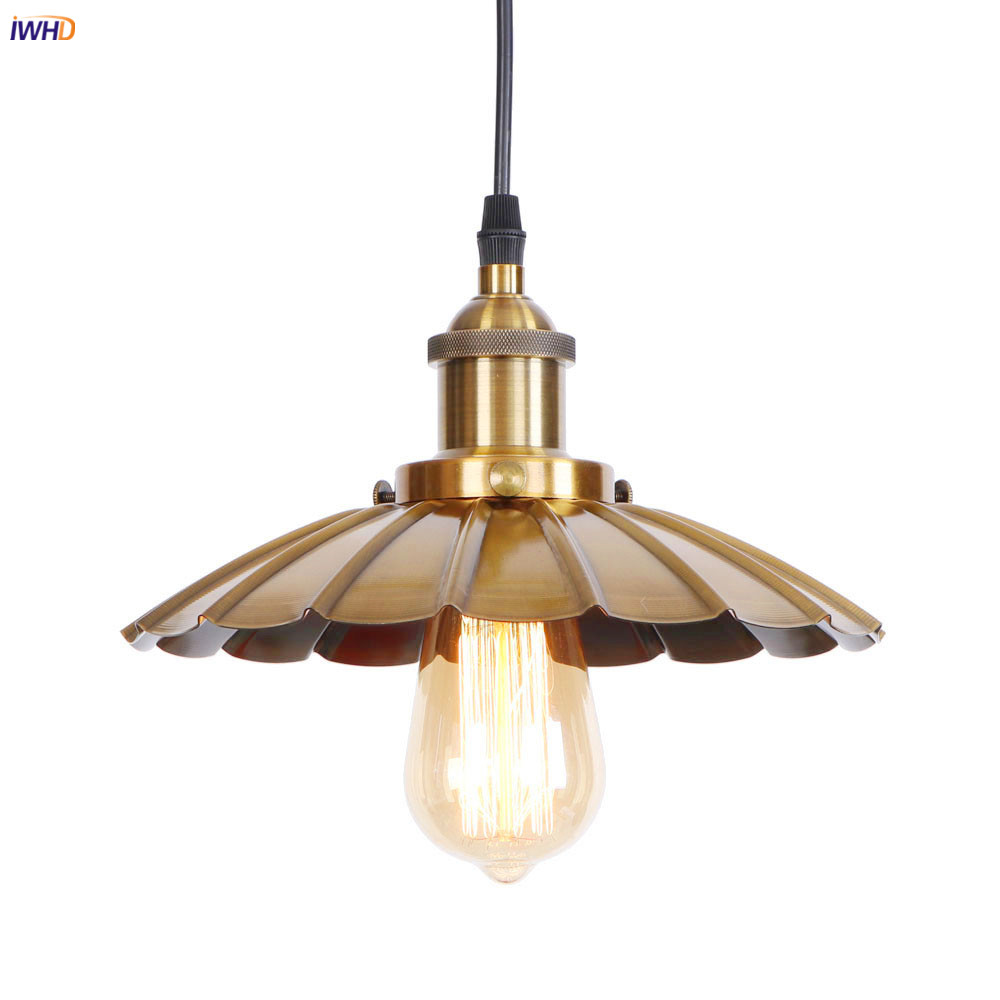 IWHD Gold Retro Edison LED Pendant Lights Fixtures Dinning Living Room Loft Industrial Decor Pendant Lighting Hanglamp Vintage iwhd loft industrial hemp rope pendant lights iron vintage lamp retro living room pendant light fixtures home lighting hanglamp