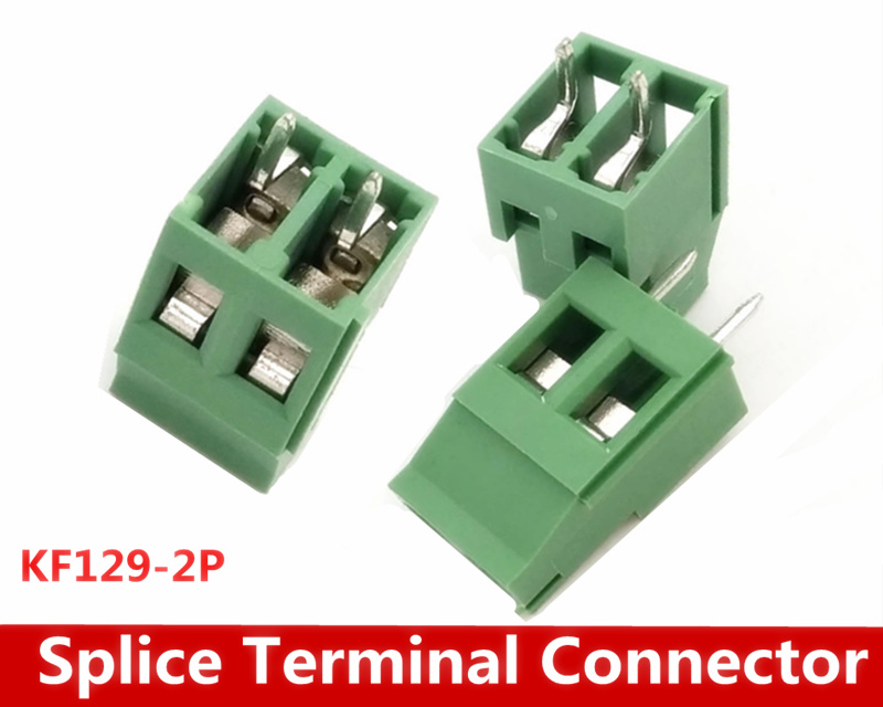 цены Free Shipping 500PCS/LOT KF129-2P KF129 2Pin Splice Terminal Connector Spacing 5.08MM 300V 25A
