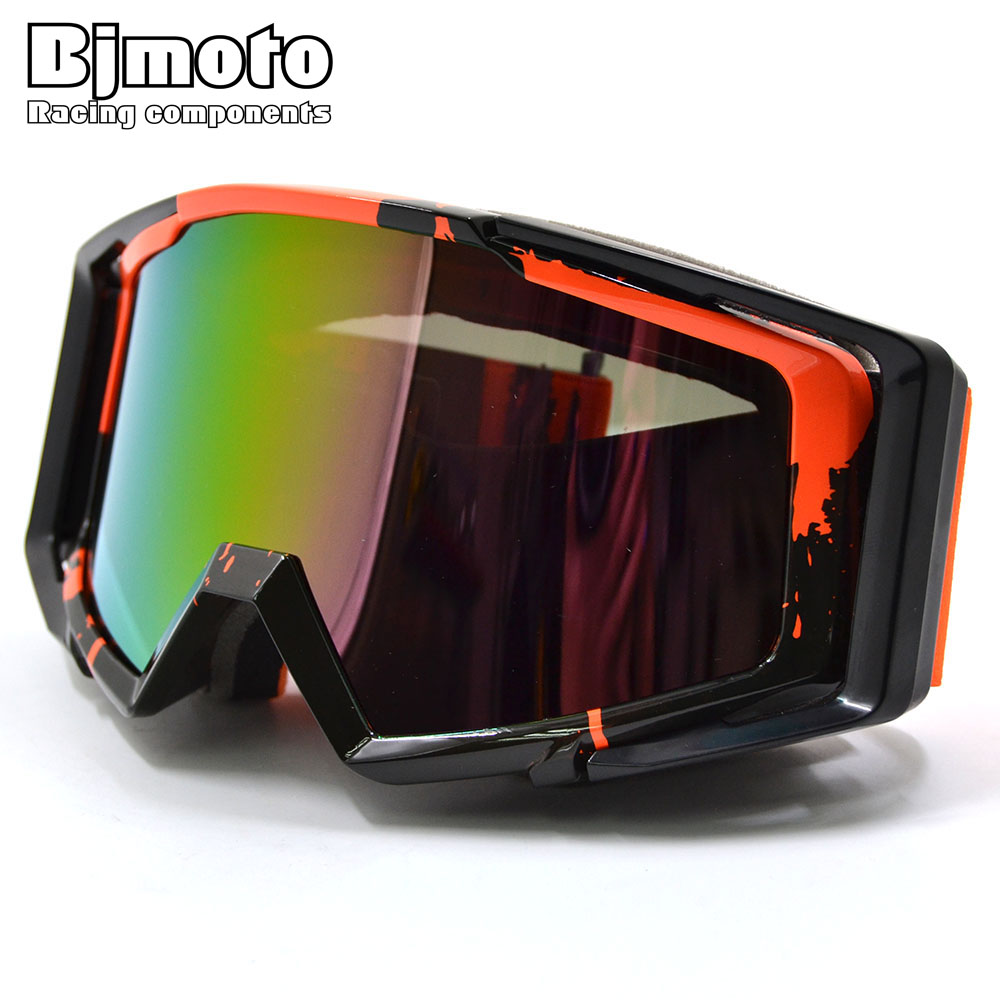 BJMOTO Newest Colorful Vintage UV Protection Off Road Motocross Goggles Glasses For Motorcycle Dirt Bike