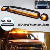 3Pcs Smoke Cab Roof Running Amber LED Lights for Chevy Silverado/GMC Sierra 2002 2003 2004 2005 2006 2007