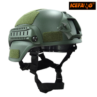 Matrix Mich 2000 Helmet W NVG Mount Side Rail For Airsoft Paintball Field Game Movie Prop