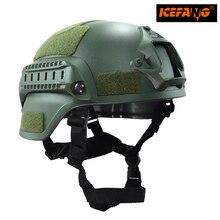 Military Mich 2000 Taktische Helm Airsoft Getriebe Paintball Kopfschutz mit Nachtsicht Sport Kamerahalterung