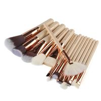 15 Pcs Pro Foundation Makeup Brush Set Kits Gold Powder Blush Cosmetics Make Up Brushes A4