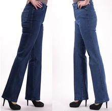 2017 новая коллекция весна осень эластичный пояс прямые джинсы женские брюки женские высокой талией джинсовые брюки плюс размер s643