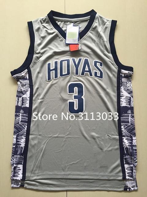 9eb726dbd60c New  3 Allen Iverson Georgetown Hoyas Throwback College Basketball Jersey  Stitched