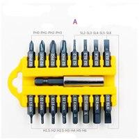 Conjuntos de chave de fenda elétrica cabeça lote 17 conjunto de broca elétrica chave de fenda de ar cone cabeça lote