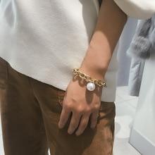 KingDeng Bracelet Gifts for Women Charm Punk Pearl Personality Temperament Simple Zinc Alloy Vintage Geometric