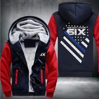 米国サイズ高品質私たちはあなた6ixアニメ厚みのパーカージッパーコートジャケットトレーナー衣装プラス