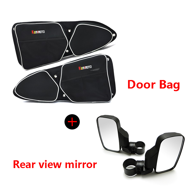 Original Utv For Polaris Rzr Xp 1000 900 2015-2017 Side Storage Bag Door Handle Bag Knee Pad Rearview Mirror Side Mirrors Rear View Wide Atv,rv,boat & Other Vehicle