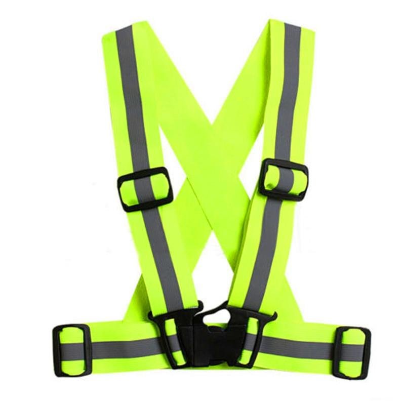 Hiking Clothings Unisex Multipurpose Cycle Visibility Reflection Led Flash Bike Vest Adjustable Running Cycling Reflective Safety Vest Back To Search Resultssports & Entertainment