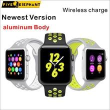 La más nueva Versión Fasion Todo el Cuerpo De Aluminio reloj Inteligente Bluetooth1: 1 reloj inteligente reloj smartwatch Sincronización iOS y Android