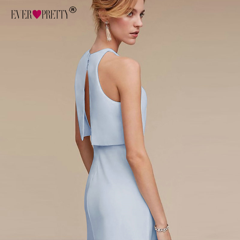 Bridesmaid     Dresses   Ever Pretty Two-piece   Dress   Crop-top Shift Split Back   Dress   Layered Skirt Design EP07173