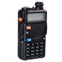 baofeng uv 5r מכשיר Baofeng UV-5R מכשיר הקשר מקצועי CB רדיו תחנת משדר 5W VHF UHF Portable UV 5R ציד Ham Radio בספרד DE (5)