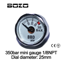 Sports Entertainment - Shooting - Paintball Airsoft PCP AirGun Mini 350bar Manometer With Luminous Night 1/8NPT Gauge
