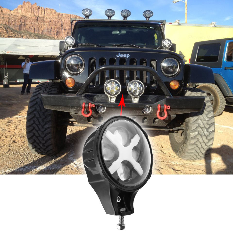 6 inch led fog light 60W Round led Driving light 12V 24V for Jeep Wrangler JK 4WD Offroad led