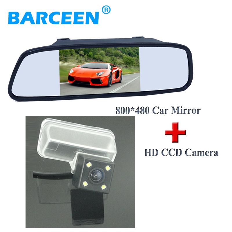 5 car display mirror monitor lcd display with 4 led colorful night vision car parking camera use for CITROEN DS4 2012 /C4L 2013